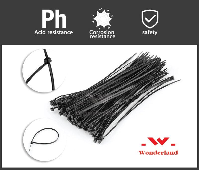 Dây rút nhựa đen Wonderland